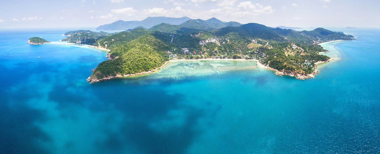 Vista aerea dell'isola di KohPhangan