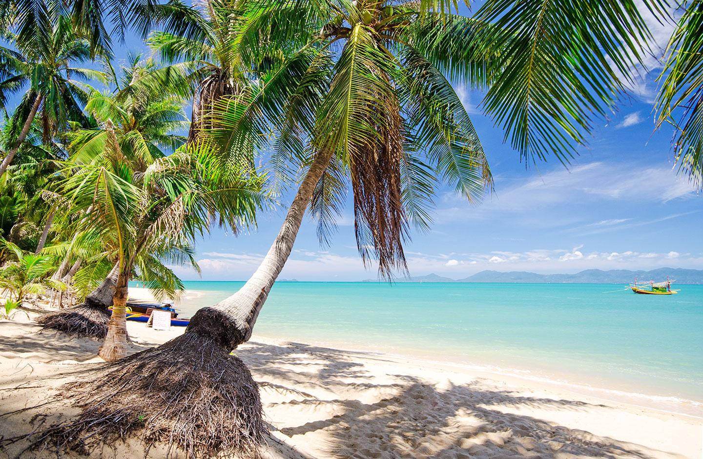 Spiaggia tropicale Chaweng a Koh Samui